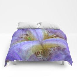 Purple Iris in Pencil Sketch 0174 Comforters