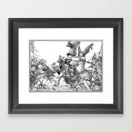 Willy Pogany - Battle Illustration Framed Art Print
