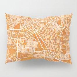 Tripoli, Libya, Gold, Blue, City, Map Pillow Sham