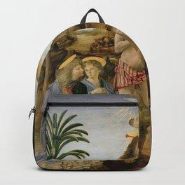 "Andrea del Verrocchio andd Leonardo da Vinci ""Baptism of Christ"" Backpack"