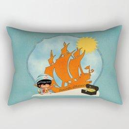 Surfer Sailor Boy Beach Pirate Rectangular Pillow