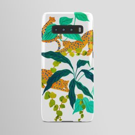 Leopards Playing among Plants Android Case