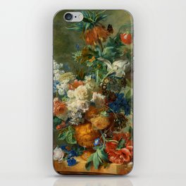 "Jan van Huysum ""Still Life with Flowers"" iPhone Skin"
