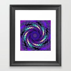 Purple Hurricane Fractal Framed Art Print