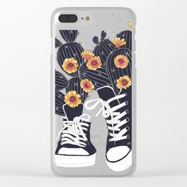 Sneakers with cactus Clear iPhone Case