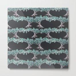 "ombu"" tree print on dark background Metal Print"