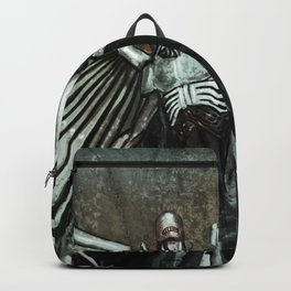 Grimey Biomechanical Robotic Angel Backpack