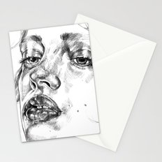 Colored Pencil Portrait Stationery Cards