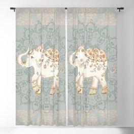 INDIAN ELEPHANT Blackout Curtain