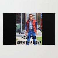 marty mcfly Area & Throw Rugs featuring MARTY by Dora Birgis
