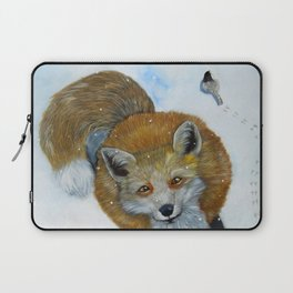 Fox and Chickadee Laptop Sleeve