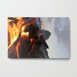 Cannon Beach Fire Metal Print