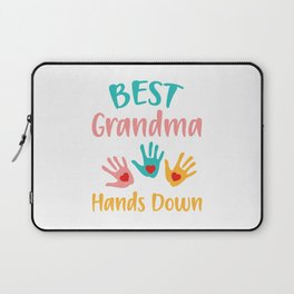 BEST GRANDMA HANDS DOWN Laptop Sleeve