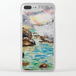 SUNRISE AT BURLEIGH HEADS Clear iPhone Case
