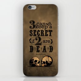 Benjamin Franklin Illustrated Quote iPhone Skin
