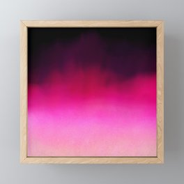Purple and Black Abstract Framed Mini Art Print