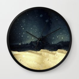 A Winter Night's Walk Wall Clock