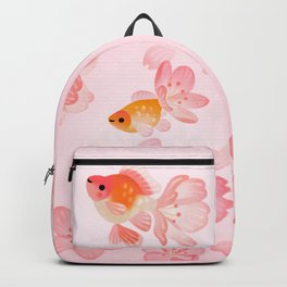 Cherry blossom goldfish Backpack