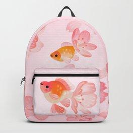Cherry blossom goldfish Backpack
