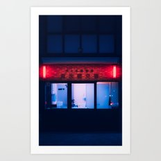 Nightshft in Tokyo Art Print