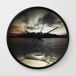 Light Polluted Lake Wall Clock