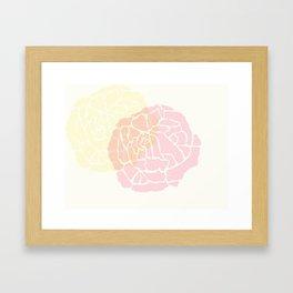 "art deco rose 8"" x 10"" print Framed Art Print"