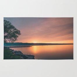 Seneca Lake Sunset Rug