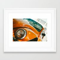 volkswagon Framed Art Prints featuring Buggin' out by dnlamria