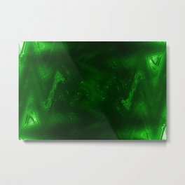 Dark green grunge Metal Print