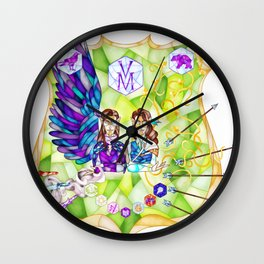 The Twins Wall Clock
