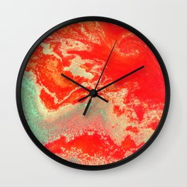 Sea Green + Coral #society6 #decor #buyart Wall Clock