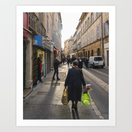 Winter in Aix Art Print