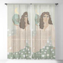 God is a Woman Sheer Curtain