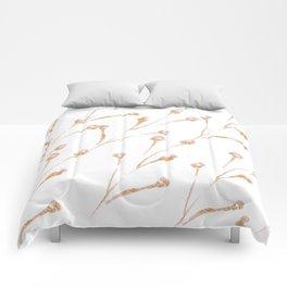 Delicate Blossom Pink + Gold Glitter Comforters
