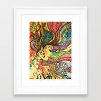 hippie Framed Art Prints featuring Hippie  by Crystal Streit-Beetham