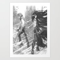 castlevania Art Prints featuring castlevania by Oxxygene