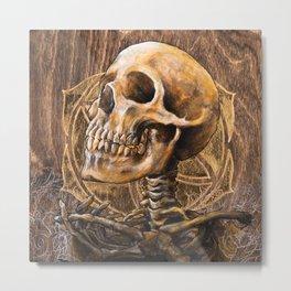 Skull Mandala 3 Metal Print