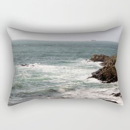 les vagues de st malo Rectangular Pillow