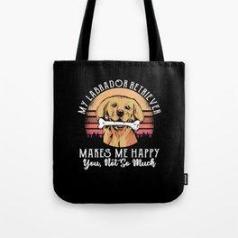 Labrador Retriever T-Shirt Gift Dog Tote Bag