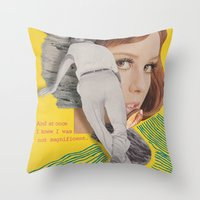 bon iver Throw Pillows featuring Bon Iver by Josh LaFayette