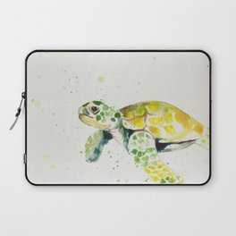 turtle watercolor art Laptop Sleeve
