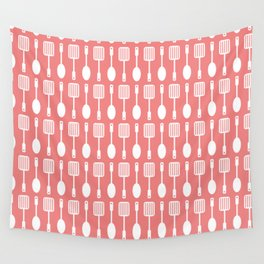 Coral Cooking Themed Pattern Wall Tapestry