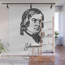 Robert Schumann composer portrait Wall Mural