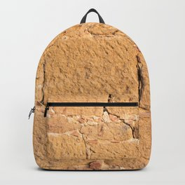 Close up view of an ancient smooth textured brick wall Backpack