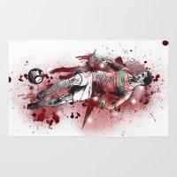 ronaldo Area & Throw Rugs featuring Cristiano Ronaldo - Portugal by Hollie B