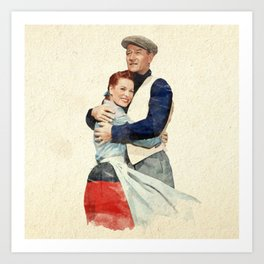 The Quiet Man - Watercolor Art Print