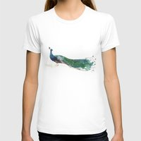 peacock T-shirts featuring Peacock by Ivanka Costru