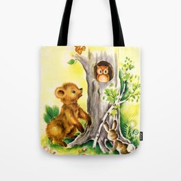 Woodland Animals & Owl's Tree Tote Bag