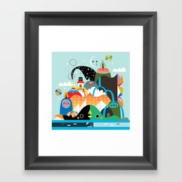 Please Stay Awhile Framed Art Print