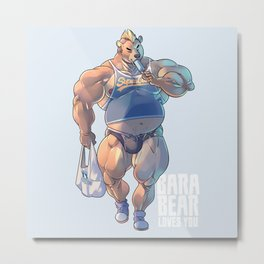 Bara Bear Blue Metal Print